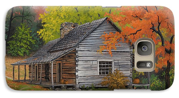 Galaxy Case featuring the painting Appalachian Retreat-autumn by Kyle Wood
