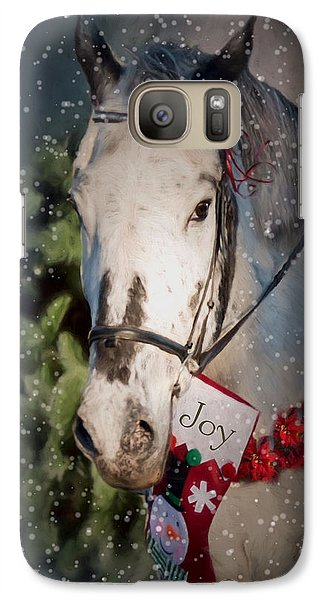 Galaxy Case featuring the photograph Appaloosa Christmas by Robin-Lee Vieira