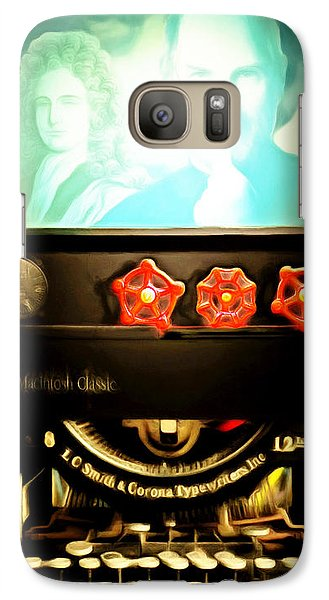 Galaxy S7 Case featuring the photograph Apple Announcement Introducing The I-steampunk One 20160321 by Wingsdomain Art and Photography