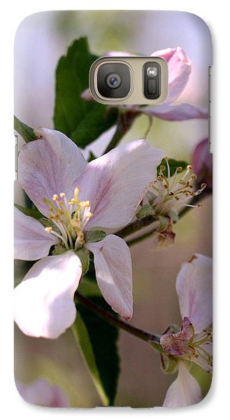 Galaxy Case featuring the photograph Apple Blossom Time by Diane Merkle
