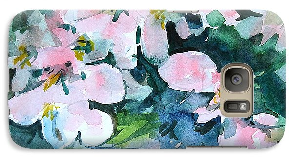 Galaxy Case featuring the painting Apple Blossom Time by Len Stomski