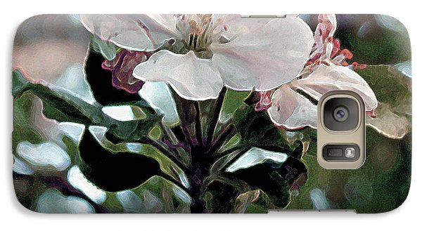 Galaxy Case featuring the painting Apple Blossom Time by RC DeWinter