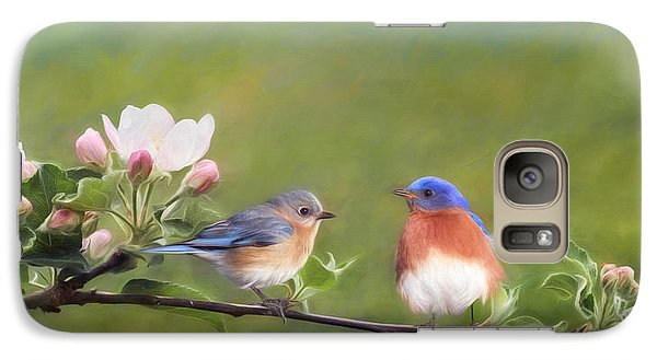 Apple Blossoms And Bluebirds Galaxy S7 Case