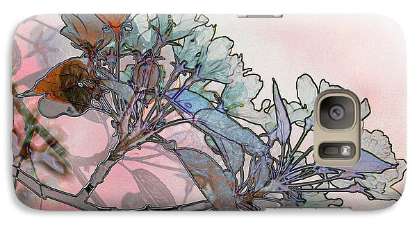 Galaxy Case featuring the digital art Apple Blossoms by Stuart Turnbull
