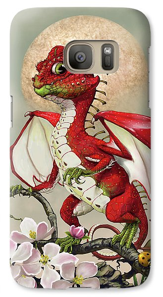 Galaxy Case featuring the digital art Apple Dragon by Stanley Morrison