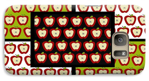 Galaxy Case featuring the digital art Apple For The Teacher- Cute Art by KayeCee Spain