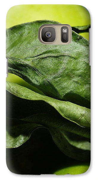 Galaxy Case featuring the photograph Apple Leaves by Michael Canning