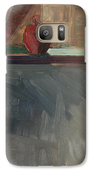 Galaxy Case featuring the painting Apple On A Sill by Daun Soden-Greene