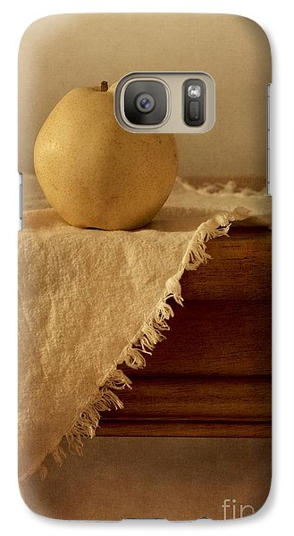 Apple Pear On A Table Galaxy Case by Priska Wettstein