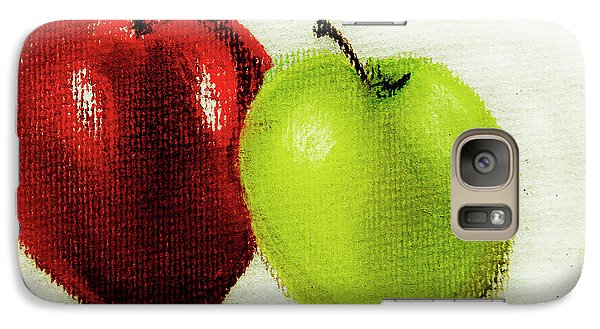 Galaxy Case featuring the pastel Apple Study by Linde Townsend