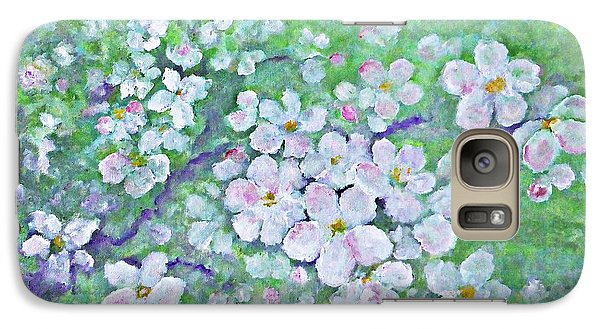 Galaxy Case featuring the painting Apple Tree Flowers by AmaS Art