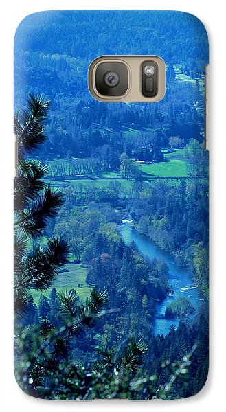 Galaxy Case featuring the photograph Applegate River From On Top Of Bolt Mountain by Marie Neder