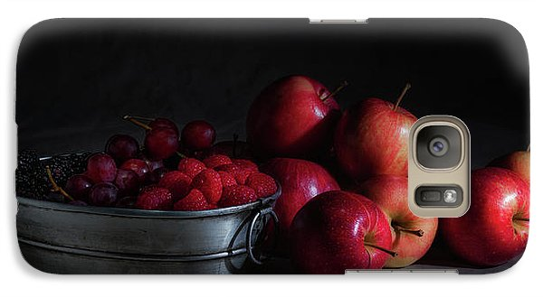 Apples And Berries Panoramic Galaxy S7 Case by Tom Mc Nemar