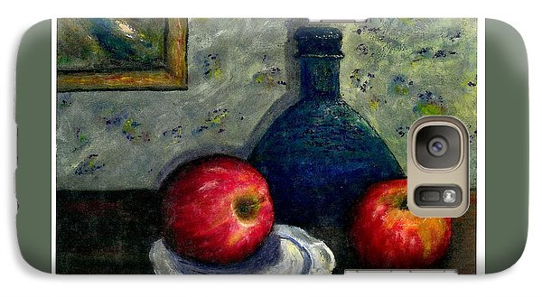 Galaxy Case featuring the painting Apples And Bottles by Gail Kirtz