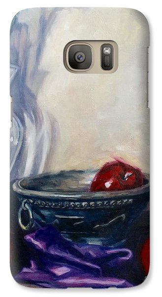 Galaxy Case featuring the painting Apples And Silk by Rebecca Glaze