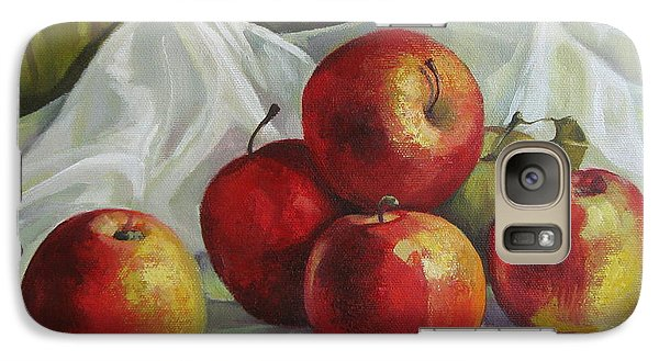 Galaxy Case featuring the painting Apples by Elena Oleniuc