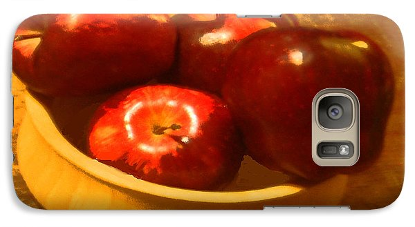 Galaxy Case featuring the digital art Apples In A Bowl by Walter Chamberlain