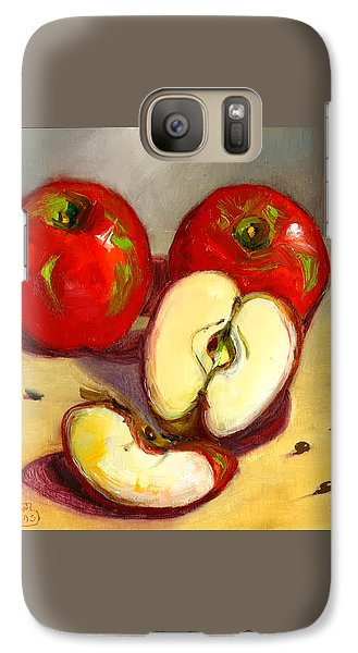 Galaxy Case featuring the painting Apples by Susan Thomas