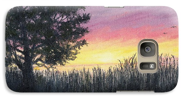 Galaxy Case featuring the painting Approach To The Sea by Kathleen McDermott