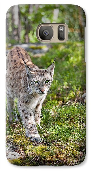 Galaxy Case featuring the photograph Approaching Lynx by Yngve Alexandersson