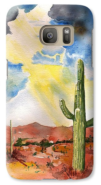 Galaxy Case featuring the painting Approaching Monsoon by Sharon Mick