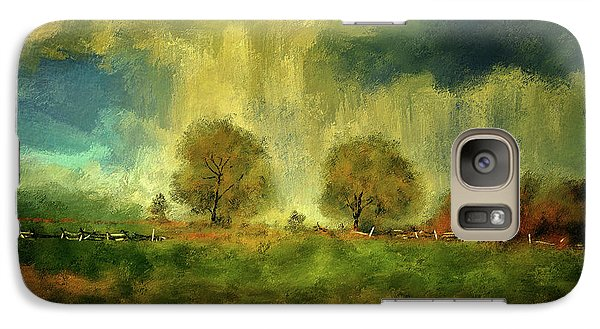 Galaxy Case featuring the digital art Approaching Storm At Antietam by Lois Bryan