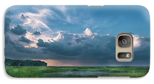 Galaxy Case featuring the photograph Approaching Storm by Phyllis Peterson