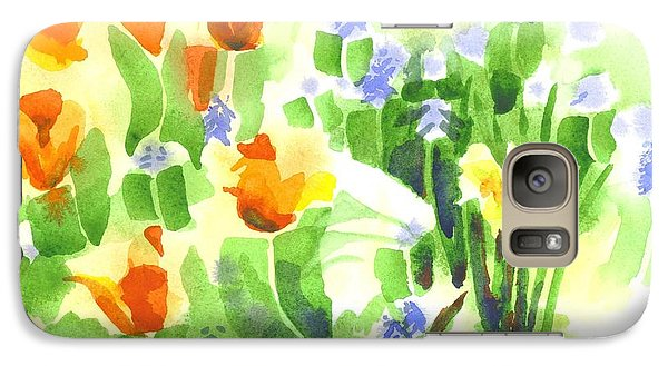Galaxy Case featuring the painting April Flowers 2 by Kip DeVore