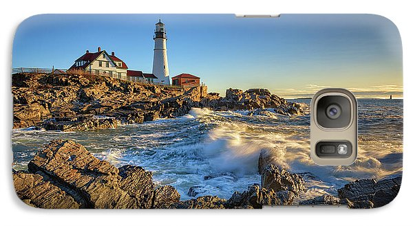 Galaxy Case featuring the photograph April Morning At Portland Head by Rick Berk