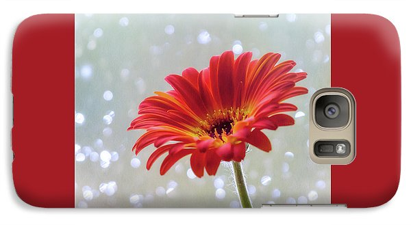 Galaxy Case featuring the photograph April Showers Gerbera Daisy Square by Terry DeLuco
