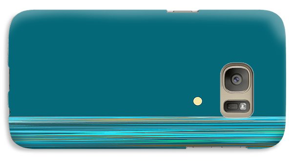 Galaxy Case featuring the digital art Aqua Sea by Val Arie