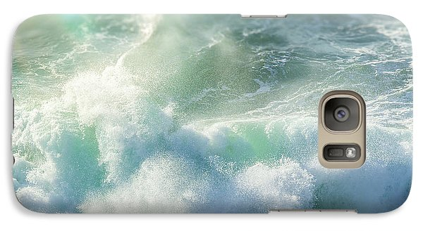Galaxy Case featuring the photograph Aqua Surge by Amy Weiss