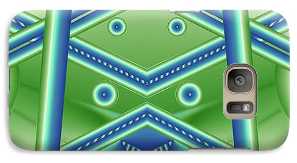 Galaxy Case featuring the digital art Aquamarine by Ron Bissett