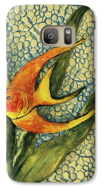 Galaxy Case featuring the photograph Aquarium On The Wall by Itzhak Richter