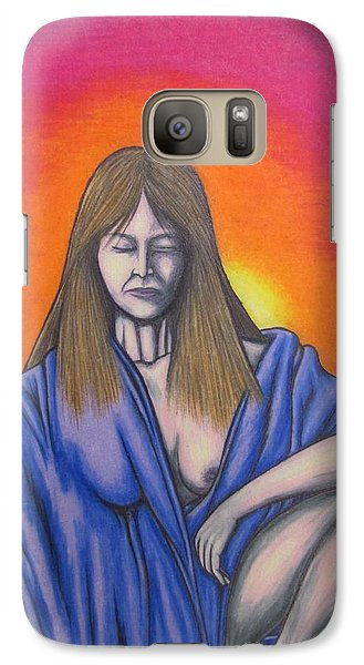 Galaxy Case featuring the drawing Aquarius by Michael  TMAD Finney