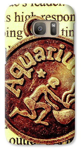 Galaxy Case featuring the photograph Aquarius Zodiac Sign by Jorgo Photography - Wall Art Gallery