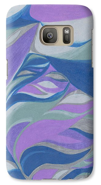 Galaxy Case featuring the drawing Aqueous by Kim Sy Ok