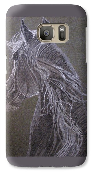 Galaxy Case featuring the drawing Arab Horse by Melita Safran