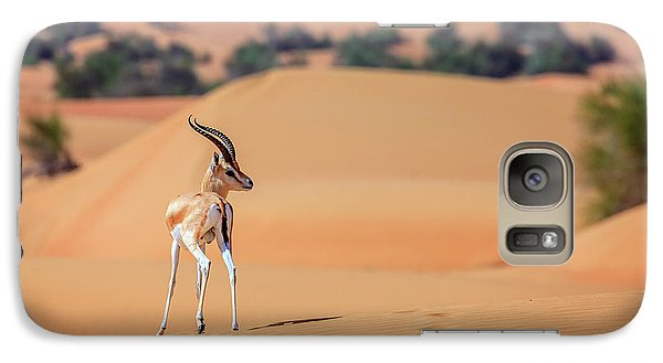 Galaxy Case featuring the photograph Arabian Gazelle by Alexey Stiop