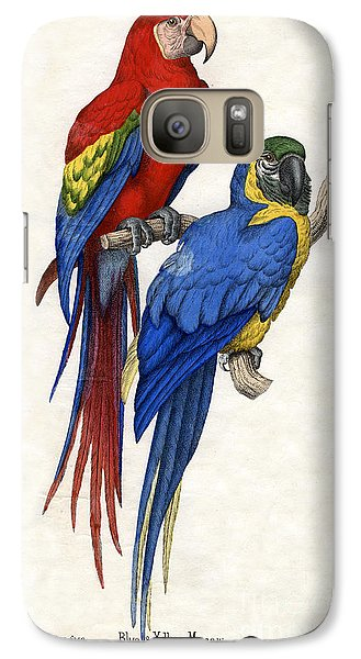 Aracangua And Blue And Yellow Macaw Galaxy S7 Case