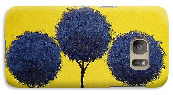 Galaxy Case featuring the painting Arboles by Edwin Alverio