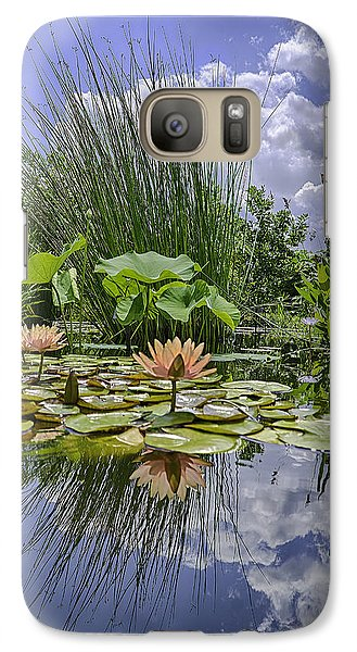 Galaxy Case featuring the photograph Arboretum Pond by R Thomas Berner