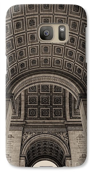 Galaxy Case featuring the photograph Arc De Triomphe Interior by Nigel Fletcher-Jones