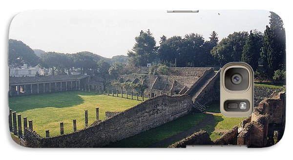 Galaxy Case featuring the photograph Arcaded Court Of The Gladiators Pompeii by Marna Edwards Flavell