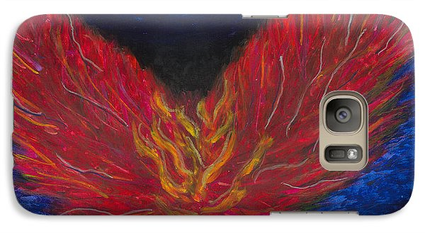 Galaxy Case featuring the painting Arch Angel Gabrielle  by Ania M Milo