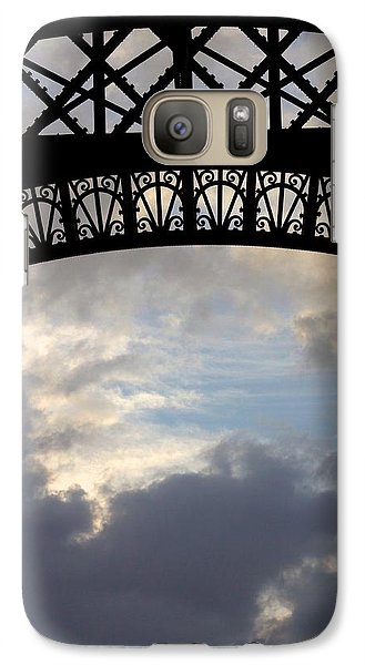 Galaxy Case featuring the photograph Arch At The Eiffel Tower by Heidi Hermes