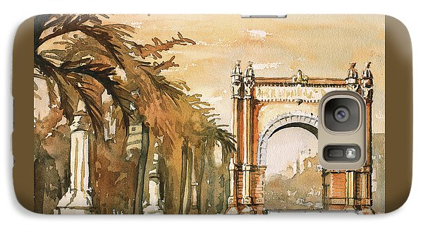 Galaxy Case featuring the painting Arch- Barcelona, Spain by Ryan Fox