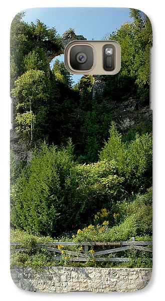 Galaxy Case featuring the photograph Arch Rock Mackinac Island by LeeAnn McLaneGoetz McLaneGoetzStudioLLCcom