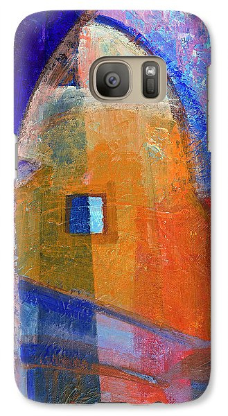 Galaxy Case featuring the painting Arches And Window by Walter Fahmy
