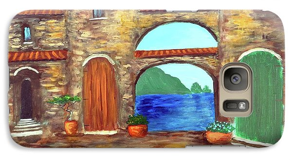 Galaxy Case featuring the painting Arches Of Amalfi  by Larry Cirigliano